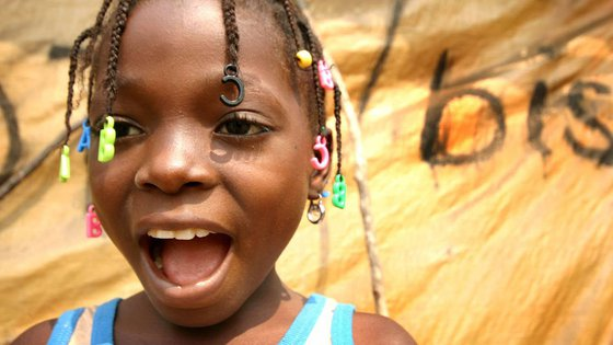 Burundi girl happy smile