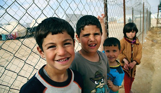 War Child UK in Jordan boys fence_related