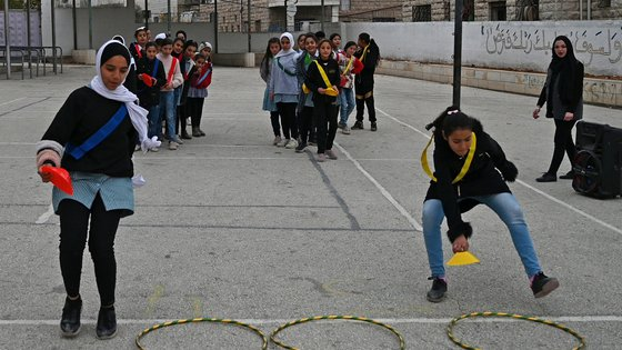 Playing in gaza Hebron