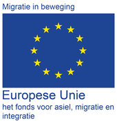 Logo AMIF - Europese Unie fonds voor asiel, migratie en integratie - partner War Child